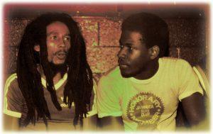 Bob Marley & Junior Smith circa 1979